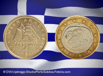 Το λόμπι της δραχμής με σημαία του το ευρώ...