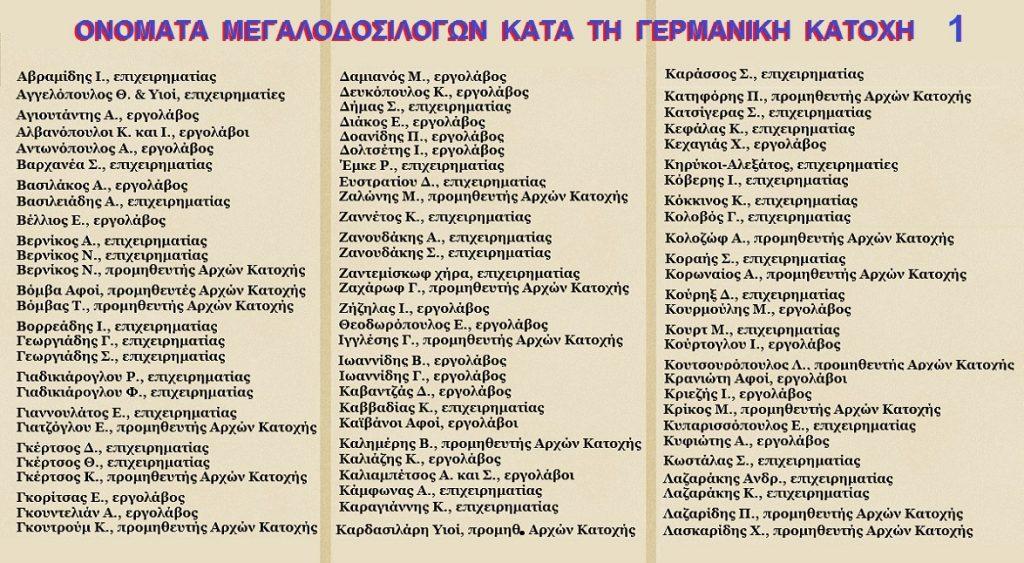 ΔΟΣΙΛΟΓΟΙ-ΓΕΡΜΑΝΙΚΗΣ-ΚΑΤΟΧΗΣ