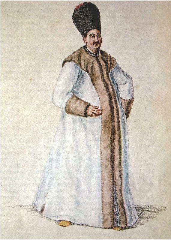 Έλληνας προεστός του 18ου αιώνα με την επίσημη στολή του, Αθήνα, Γεννάδειος Βιβλιοθήκη