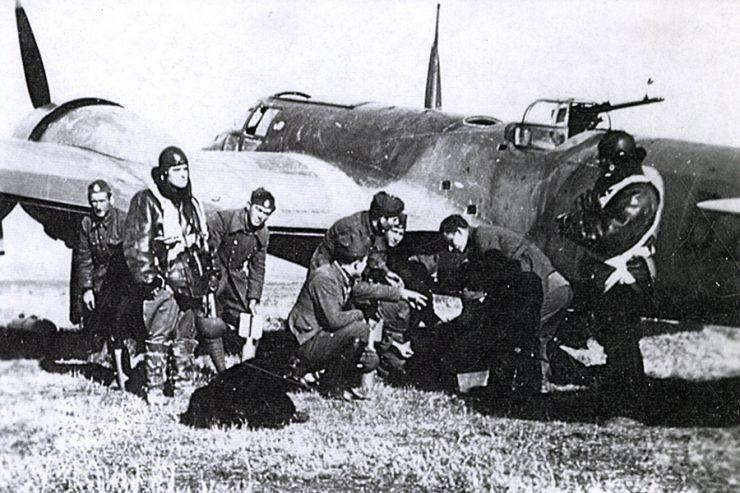 Ένα από τα λίγα καταδιωκτικά αεροπλάνα καθηλωμένο στο έδαφος.